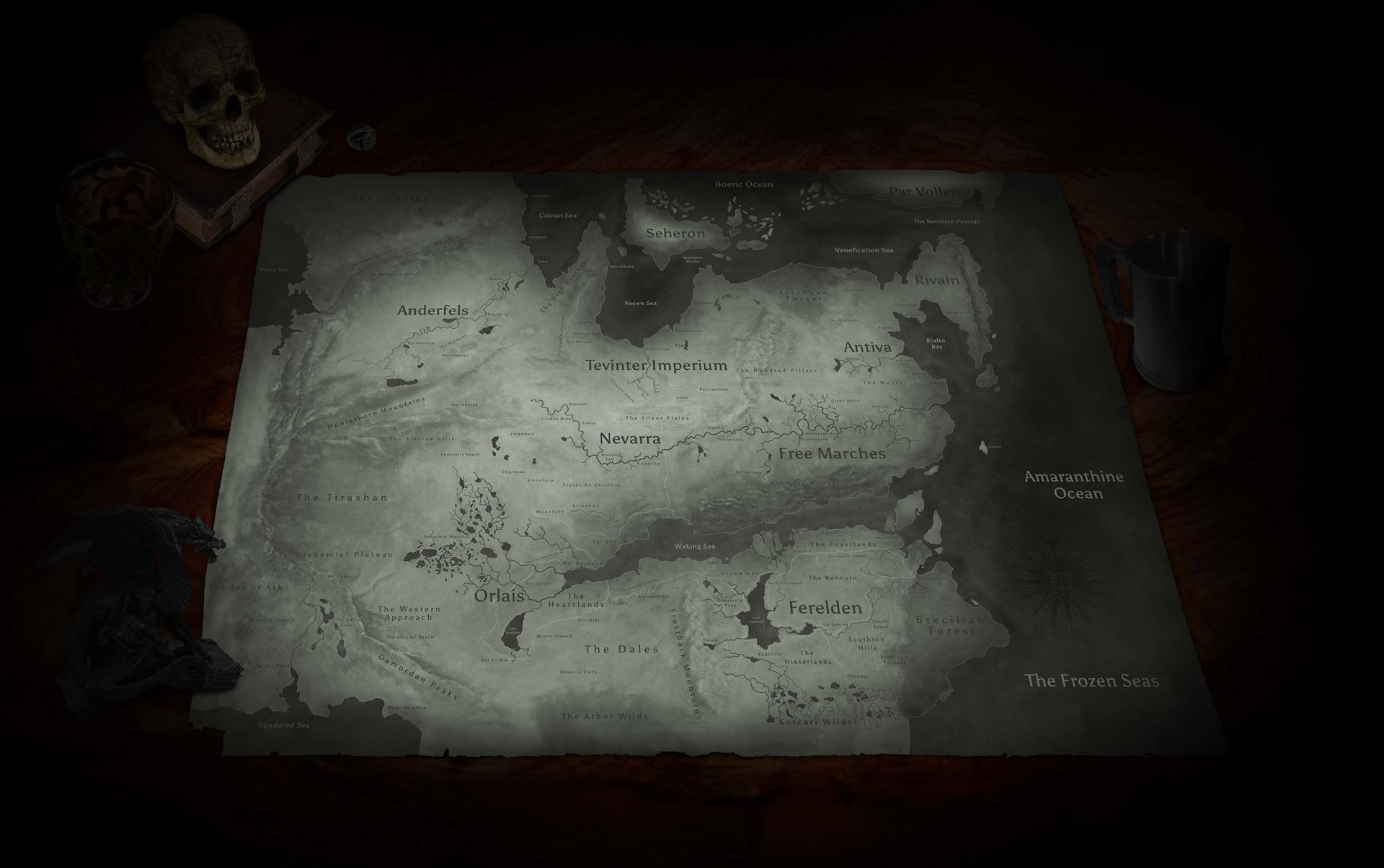 Dragon age inquisition карты локаций