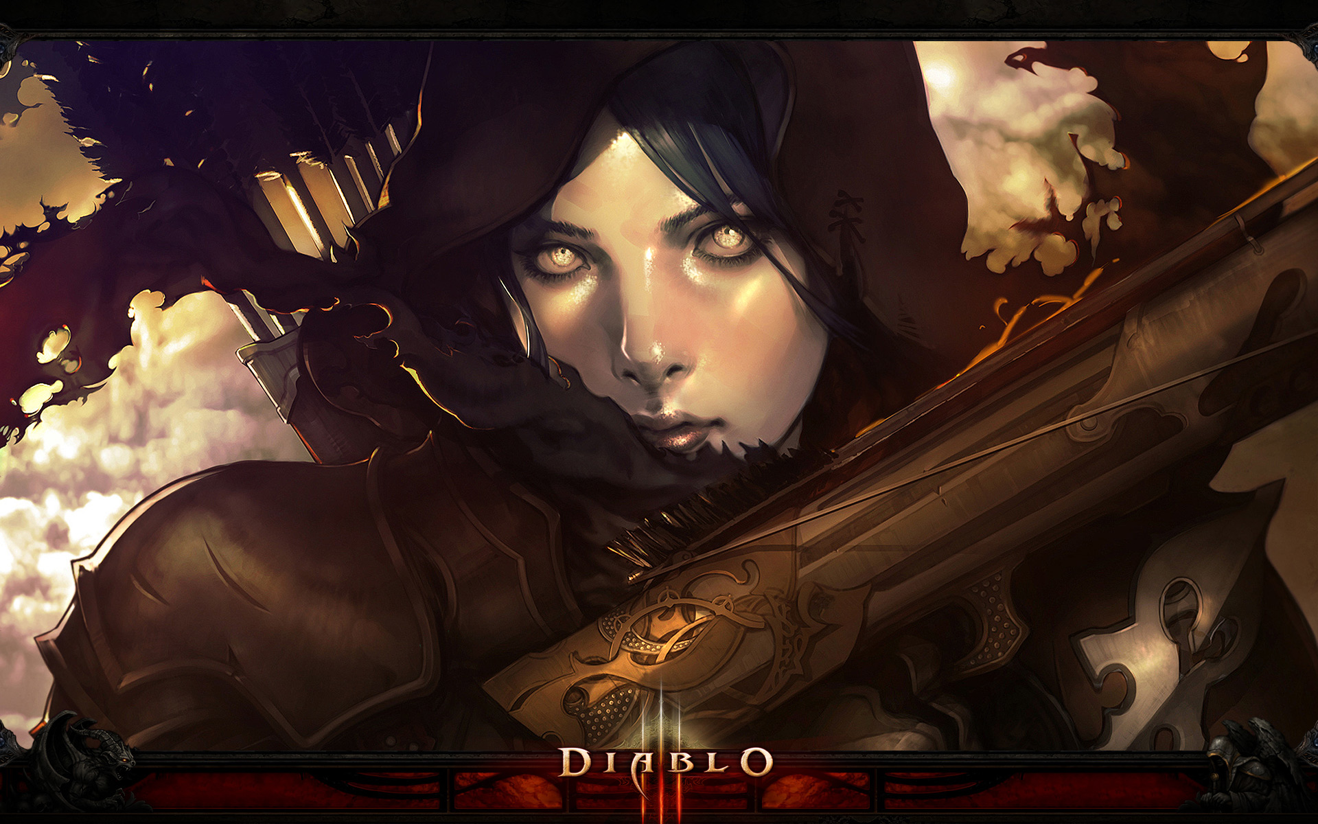 Diablo 3 demon hunter wallpaper 876838 for Demon hunter