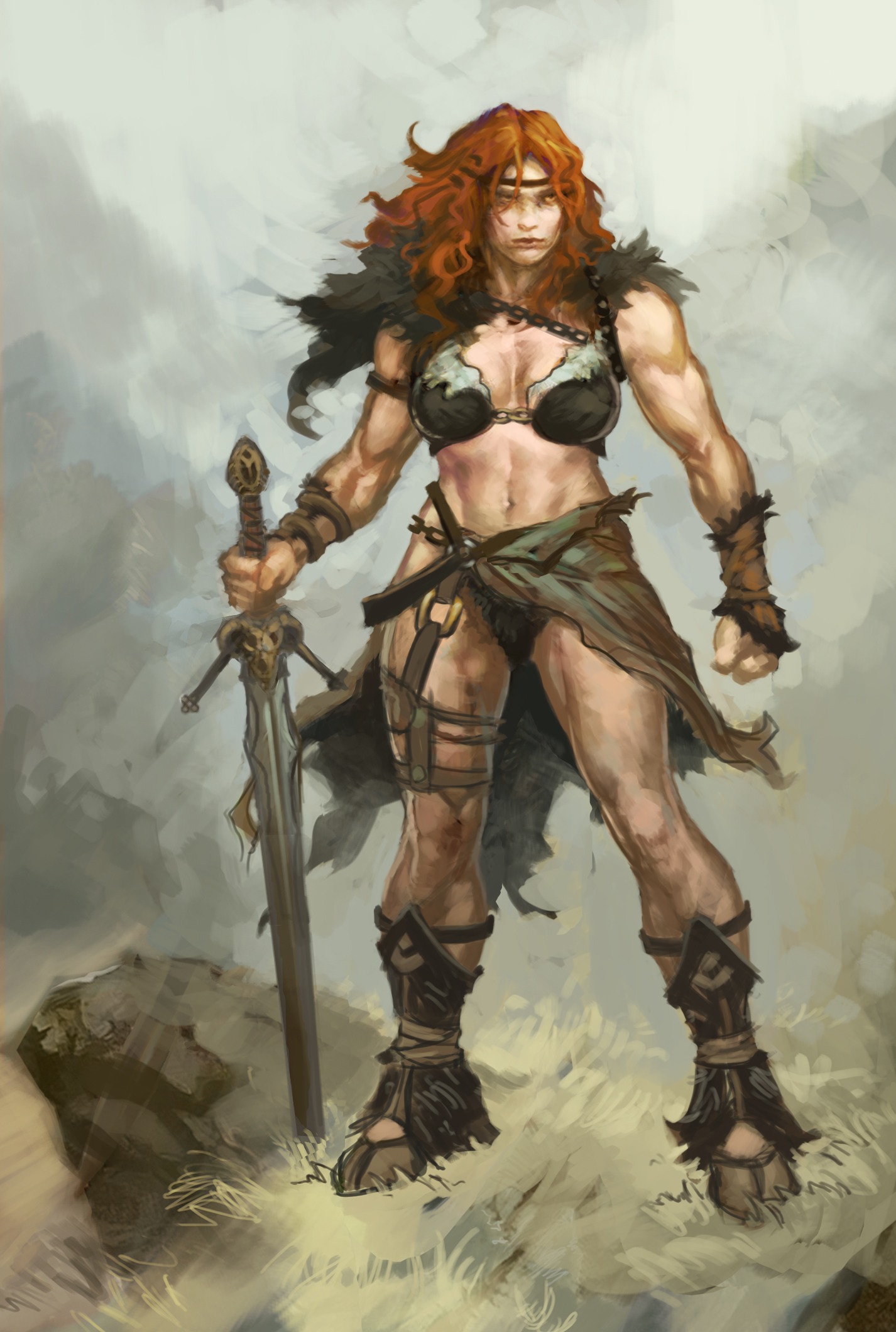 Female barbarian pictures anime comics