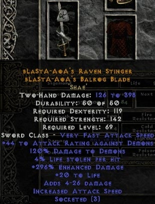 Diablo 2: Crafted Item